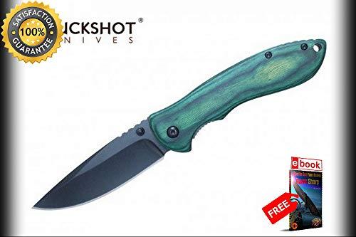 SPRING ASSISTED Folding Pocket Sharp KNIFE Buckshot 3.4''