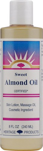 Heritage Products Sweet Almond Oil -- 8 fl oz - 3PC