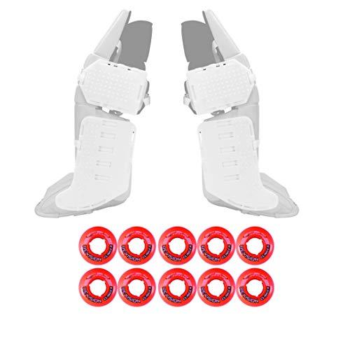 Rollerfly White Slide Plates + Revision Clinger Goalie - Outdoor 47mm Org ()