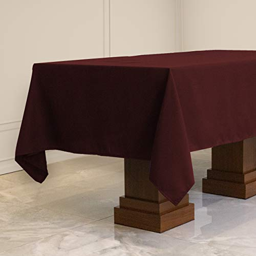 Kadut Rectangle Tablecloth (60 x 102 Inch) Burgundy Rectangular Table Cloth for 6 Foot Table | Heavy Duty | Stain Proof Table Cloth for Parties, Weddings, Kitchen, Wrinkle-Resistant Table Cover