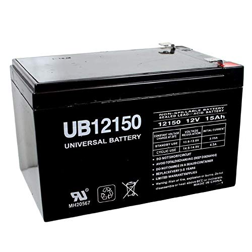 Universal Power Group 12V 15AH F2 Battery for Currie Electro-Drive Electric Bicycle Kit