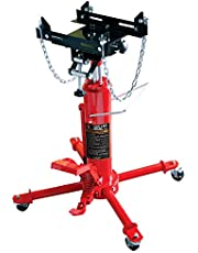 Big RED TRA4055 Torin Hydraulic Garage/Shop Telescoping Transmission Floor Jack with Foot Pedal Pump and Release: 1/2 Ton (1,000 lb) Capacity