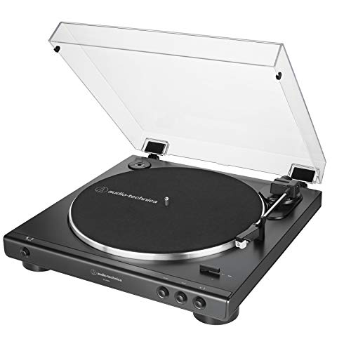Audio-Technica AT-LP60X-BK Fully Automatic Belt-Drive Stereo Turntable, Black, Hi-Fidelity, Plays 33 -1/3 and 45 RPM Vinyl Records, Dust Cover, Anti-Resonance, Die-Cast Aluminum Platter