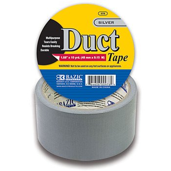 3 Pk. BAZIC Silver Duct Tape. Heavy Duty Duct Tape for Craft