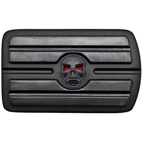 Krator Black Brake Pedal Pad Cover Black NonSlip Rubber For Harley Davidson Tour Glides/Road Glide 1980-2015