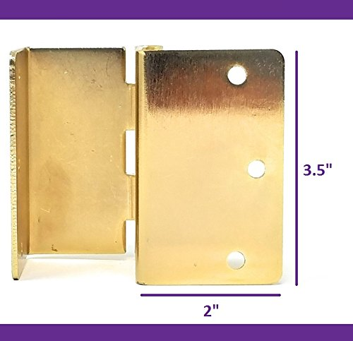 Handicap Brass Expandable Door Hinges - 2 Hinges by MARS Wellness (Image #3)