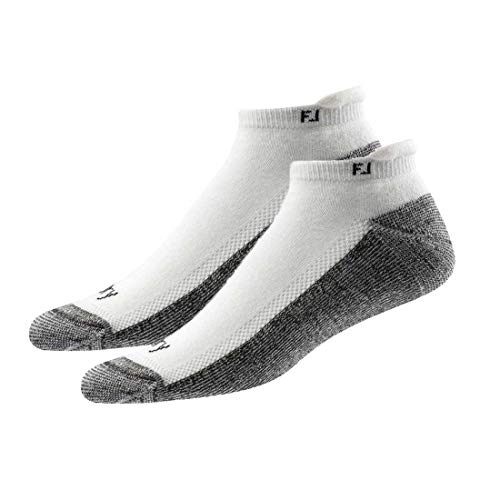 - New Improved FootJoy ProDry Men's Golf Socks 2 Pairs Pack - More Comfort (Roll Tab - White)