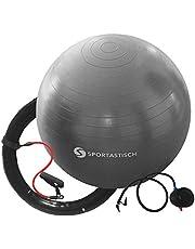 Sportastisch Gymnastikball Top¹ Workout Ball oder Massage Gym Ball mit Luftpumpe | Premium Sitzball mit Anti-Burst-Schutz | GRATIS E-Book und bis zu 3 Jahre Garantie²