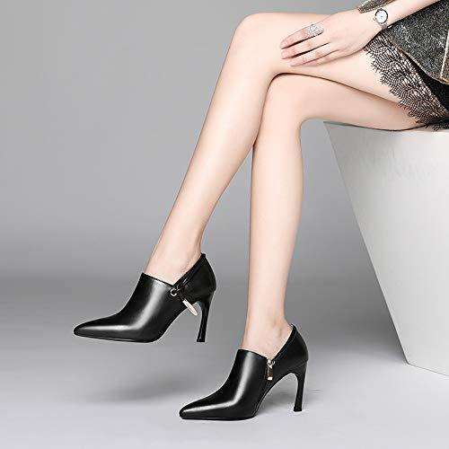 Talons MSM4 pour métal Black Chaussures à en glissière Hauts Femme 451 à Fermeture à wwZfqxEB