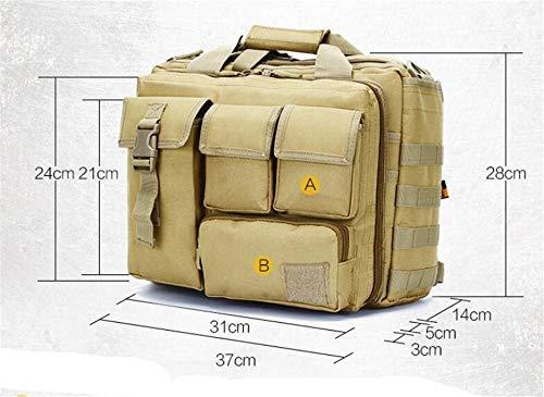 Jaycel-Ginny Multifunctional Outdoor Computer Bag - Oxford Waterproof Tactical Shoulder Bag for Traveling, Camping, Trekking & Hiking,Mud