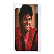 Tyquin Michael Jackson Beautiful Smile Ipod Touch 4 Case Protector for Girls, Ipod Touch 4 Cases for Girls [White]