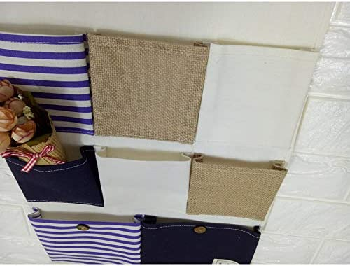 Weimay 1Pcs 8 Pockets Wall Storage Bag Hanger Door Closet Waterproof Closet Hanging Storage Bags Organizer