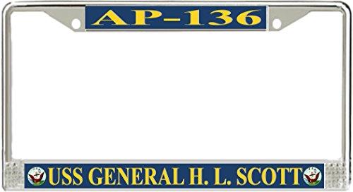 MilitaryBest USS General H. L. Scott AP-136 License Plate Frame (Hl Ap)