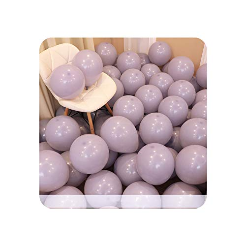 5pcs 12inch Macaron 50 Birthday Decor White Latex Balloons Gender Reveal Party Decoration Home Wedding Party Balloon,Macaron D2 Grey (Best Tower Defence 2019)
