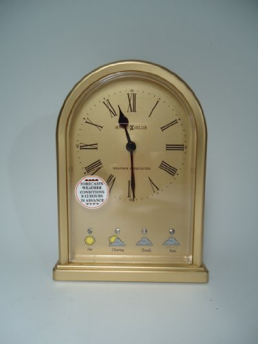 Howard Miller Forecaster Arch Clock Weather Forecaster table Clock (Howard Miller Barometer)