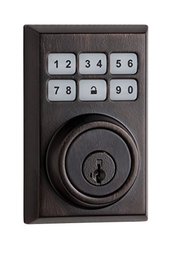 Kwikset 99090-023 SmartCode Electronic Deadbolt featuring Smart Key, Venetian Bronze Kwikset