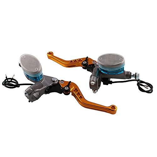 Motorcycle CNC Aluminum Brake Clutch Master Cylinder Hydraulic Reservoir With Master Cylinder Reservoir For 7/8