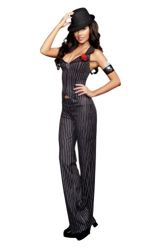 Dreamgirl Women's Crime Time, Black, Large (Female Gangster Costume)
