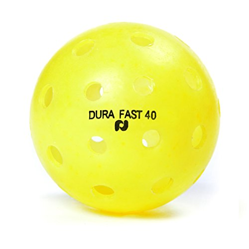 Pickle-Ball, Inc. Dura Fast 40 Outdoor Pickleball, 6-Pack, Yellow