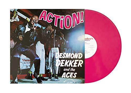 Desmond Dekker & The Aces 'Action! - 1968' -Exclusive 180g Hot Pink Vinyl, LTD to 1,000 (Marble Black Action)