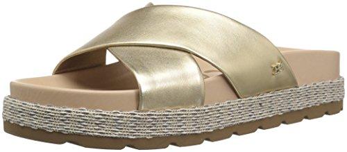 Sam Edelman Women's Sadia Slide Sandal Molten Gold/Metallic Leather