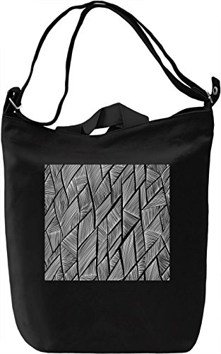 Black Pattern Borsa Giornaliera Canvas Canvas Day Bag| 100% Premium Cotton Canvas| DTG Printing|