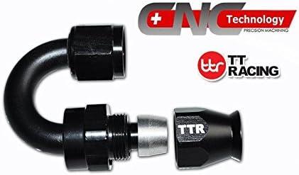 AN-8 8AN AN8 45 Degree PTFE Type Reusable Swivel Fitting Hose End for AN8 PTFE Fuel Hose 80-045-08