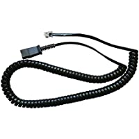 Plantronics Compatible QD U10PS Bottom Cable For Yealink SIP-T19P T20P T21P T22P T26P T28P T32G T41P T38G T42G T46G T48G, Snom and Grandstream IP Phone
