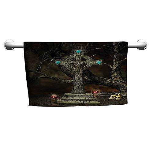 alisoso Gothic,Decorative Towels Tree Grace and Skull Symbols W 28