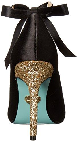 Blu By Betsey Johnson Womens Sb-bri Dress Pump Black Satin