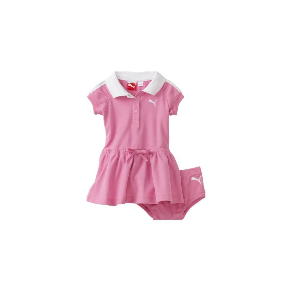 PUMA   Kids Baby Girls Polo Dress With Diaper Set, Fuchsia Pink, 12 Months