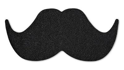 Novelty Door Mat Foot Scraper - Black Mat The Moustache