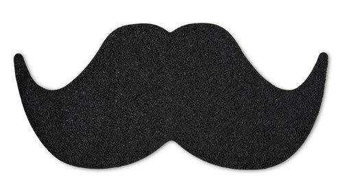MUSTARD Novelty Door Mat - Black Mat The Moustache