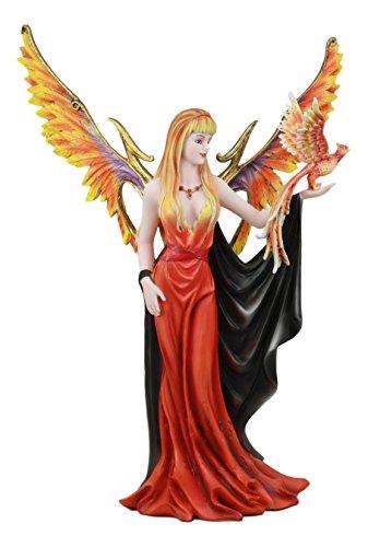 Ebros Large Goddess of Fire Elemental Fairy with Blood Phoenix Avatar Statue 15