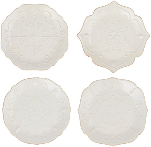 Lenox Dinnerware, Set of 4 French Perle White Assorted Plate