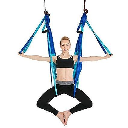 Amazon.com: CHSSC Yoga Hammock, Aerial Yoga Hammock, 6 Hand ...
