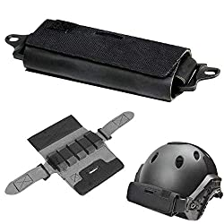 ActionUnion Helmet Tactical Helmet Balancing Counter Weight Bag Helmet Pouch Fast Rear Balance Battery Bags Combat Accessory for ARC Rail OPS/Fast/BJ/PJ/MH Army Hunting Airsoft Paintball