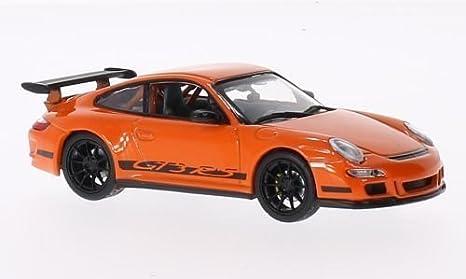 PoRSche 997 GT3 RS, aros para llantas U. lineas negro, anaranjado, Modelo