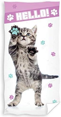 Dibujos Animados Hello Cat Gato Toalla de Playa Toalla Ducha 70x140 cm Rnl173019-r: Amazon.es: Hogar