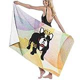 Camp Ursula Dog Bulldog Puppy Crown Animal Soft Super Water Absorbent Beach Shower Bath Towel