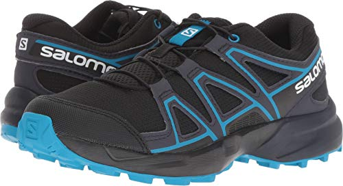 Salomon Kids Speedcross J, Trail Running Shoe, black / graphite / hawaiian surf ,  Child 2