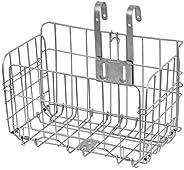 GLE2016 Folding Rear Bike Basket Wire Mesh Fold-Up Detchable Front Bag Rear Hanging Bike Basket Bicycle Bag Ca
