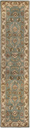 Safavieh Heritage Collection HG811B Handcrafted Traditional Oriental Blue and Beige Wool Runner (2'3