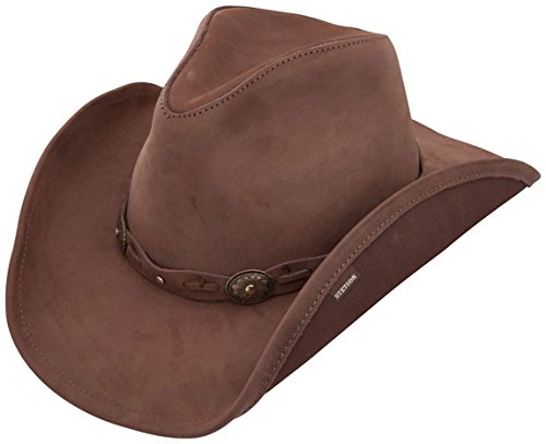 Stetson Roxbury Shapeable Leather Cowboy Western Hat, Mocha - Large