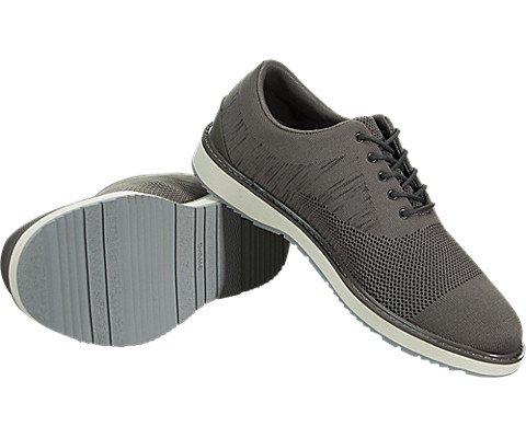 SWIMS Barry Oxford Knit In Khaki Melange/Gray, Size 8 by SWIMS (Image #2)