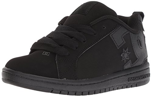 DC Boys' Court Graffik Skate Shoe, Black, 3.5 M US Big Kid