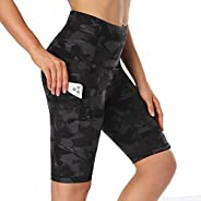 """NexiEpoch Biker Shorts for Women with Pockets - 8"""" High Waisted Plus Size Spandex Shorts for Summer Runni"""
