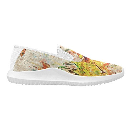 InterestPrint Loafer Slip On Shoes Women Canvas Fashion Sneakers Multi 14 MUOjVtMe