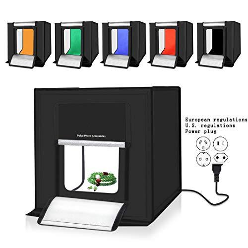 Estudio fotográfico portátil Carpa Caja de luz 40 cm Plegable LED Atenuación Fotográfica Profesional Luz Suave Envíe un...