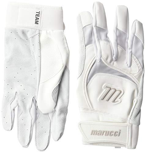 Marucci Adult Signature Baseball Batting Gloves, White, Large